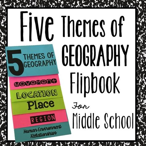 5 themes of geography booklet five themes of geography flipbook for interactive