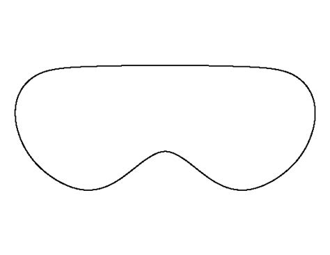 printable eye mask eye mask pattern use the printable outline for crafts