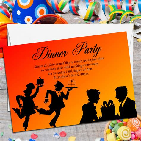Come With Me Book Invites by 10 Personalised Come Dine With Me Dinner Invitations No1
