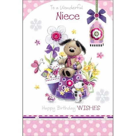 Birthday Cards For Nieces To A Wonderful Niece Birthday Card Karenza Paperie