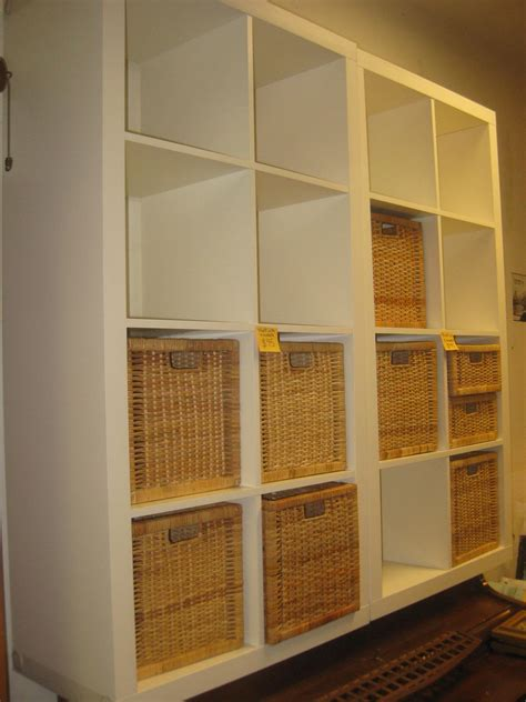 storage cabinets with wicker baskets stylish white storage cubes with rattan baskets design for