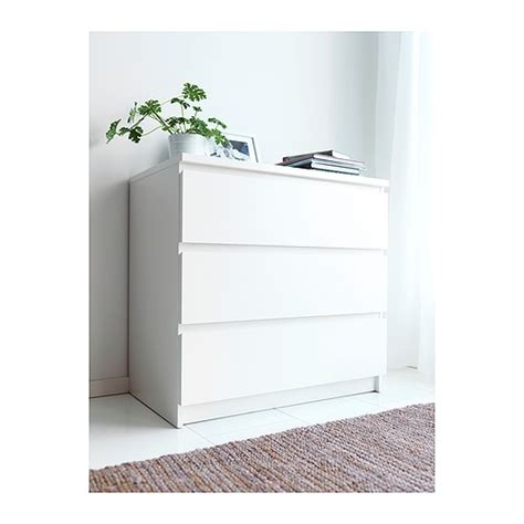 Malm Kommode Mit 3 Schubladen Wei 223 The Two Smooth And