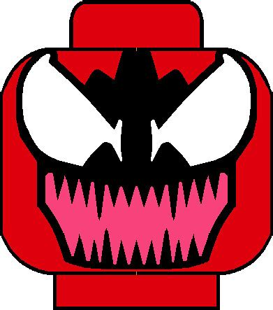 carnage head   custom lego carnage head decal