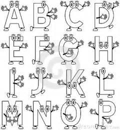 coloring cartoon alphabet 1 stock photography image 12457482