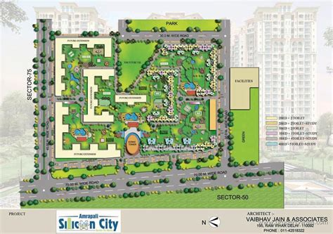 layout plan of town amrapali silicon city sector 76 noida residential