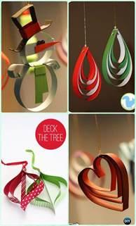 ornament craft ideas for diy paper tree ornament craft ideas