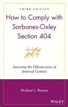 section 404 of the sarbanes oxley act states that how to comply with sarbanes oxley section 404 40 cpe credits