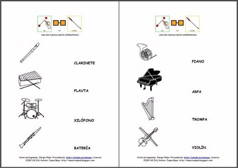 los instrumentos mi primer 23 best images about fichas musica on elementary music harry potter theme and easy