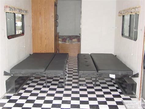 Design Your Own Bathroom Layout millenium enclosed trailers 26 ft escape beds