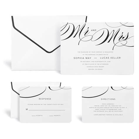 buy the mr mrs wedding invitation kit by celebrate it at