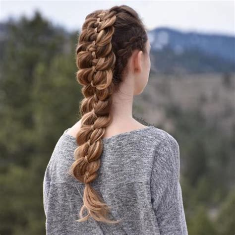 how to 4 strand braid hairstyles step by step tutorial