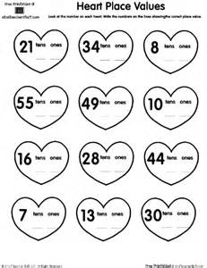 heart place value printable worksheet a to z teacher