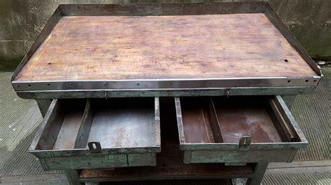 lade da tavolo vintage tavolo da lavoro industriale ex fabbrica neoretr 242