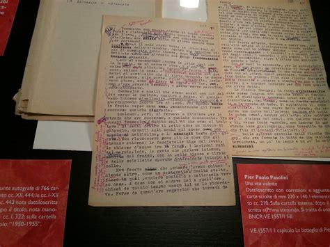 orgia testo pasolini e le borgate romane alla biblioteca nazionale di