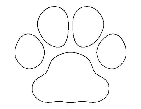 Printable String Templates - bulldog paw print pattern use the printable outline for