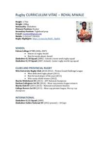 Rugby Coach Sle Resume by Rugby Cv 2016