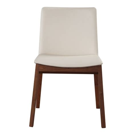 deco dining chair white pvc m2 products moe s wholesale
