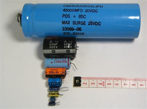 capacitor side electronics circuit application capacitors