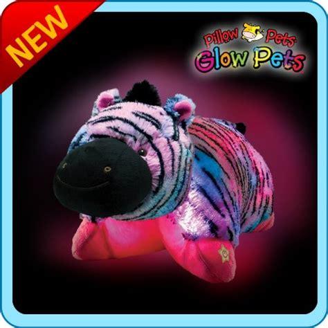 Glowing Pillow Pet by Pillow Pets Glow Pets Zebra 12 Gadgets Matrix
