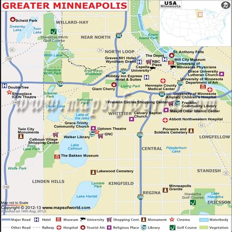 minneapolis on map of usa greater minneapolis map world of map