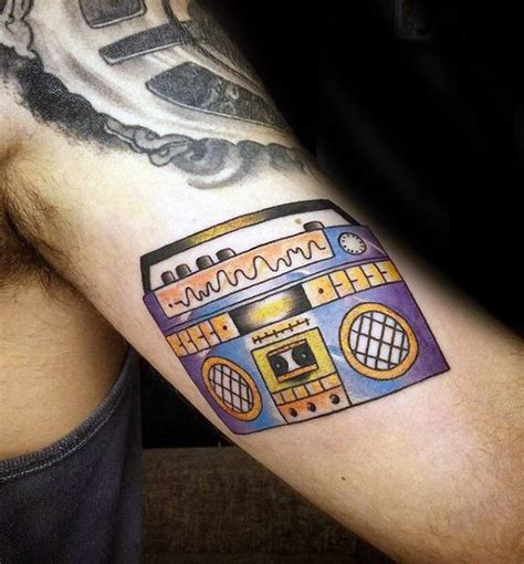 new school boombox tattoo 40 boombox tattoo designs for men retro ink ideas