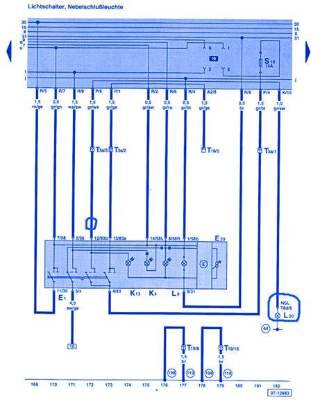 volkswagen jetta iii 1995 electrical circuit wiring