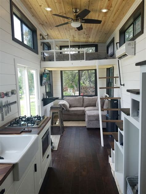 two waterfront tiny homes on lake travis