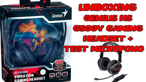 Headset Gaming Genius Hs G500v unboxing review headset genius hs g500v gaming test