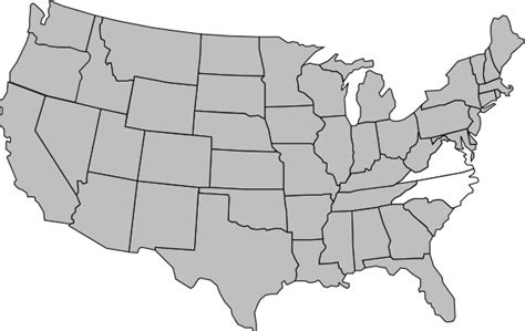 map of the united states clip art highlighted united states map clip art at clker com