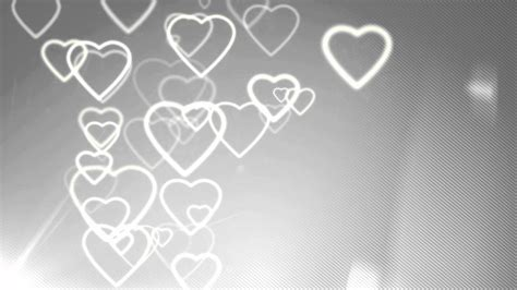 motion background hearts silver youtube