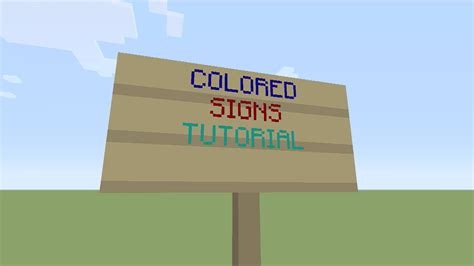 minecraft colored signs minecraft xbox one colored signs easy tutorial