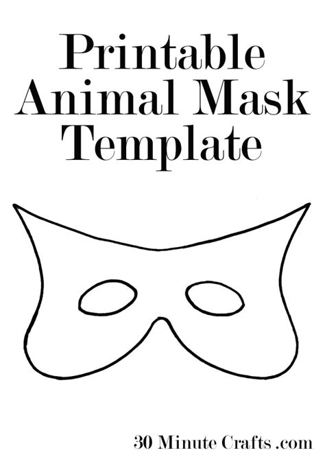 animal mask templates printable mask templates a mask