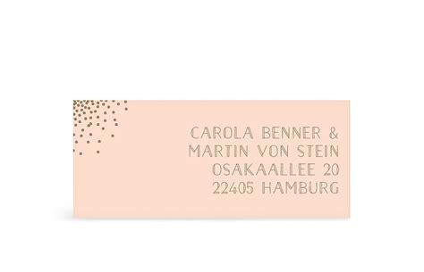Absender Aufkleber Hochzeit by Absenderaufkleber F 252 R Hochzeitskarten
