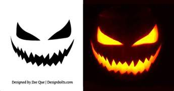 scary pumpkin templates 20 free scary pumpkin carving stencils faces