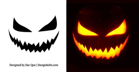 scary face pumpkin carving patterns patterns kid