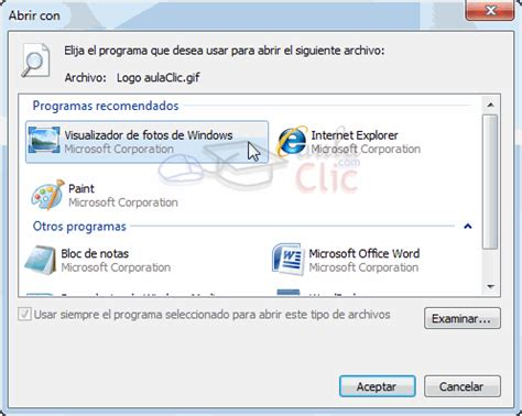programa para abrir imagenes windows 10 curso gratis de windows 7 aulaclic 4 avanzado