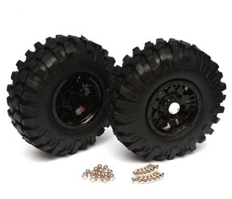 aluminum 1 9 bead lock wheel tire set 1 pair black