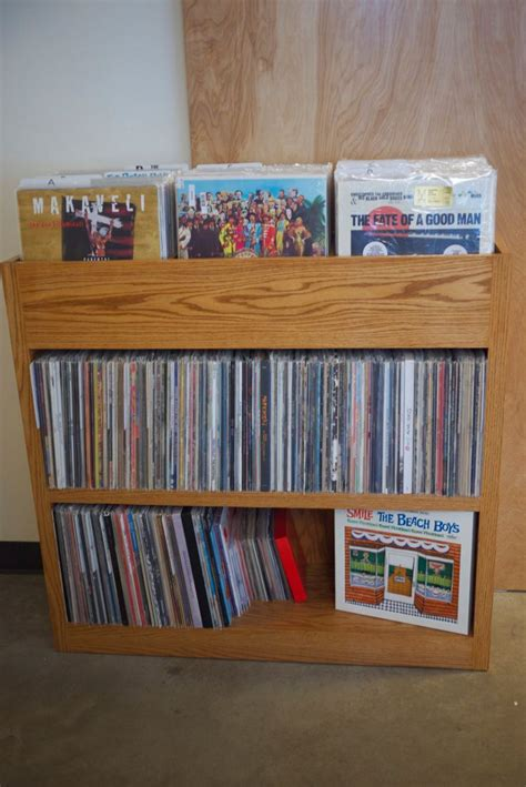 custom built record shelf