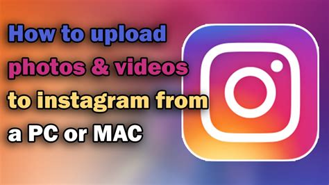 How To Search On Instagram On Pc How To Upload Photos To Instagram From Pc Or Mac 2017