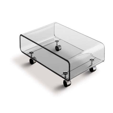 table basse transparente skate