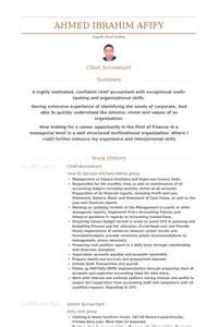 chief accountant resume sle chief accountant resume sles visualcv resume sles