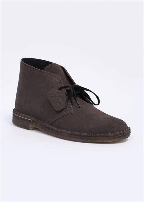 clarks originals desert boot suede grey
