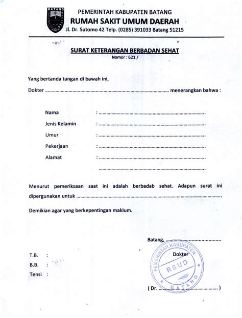 contoh surat pernyataan umum contoh 36