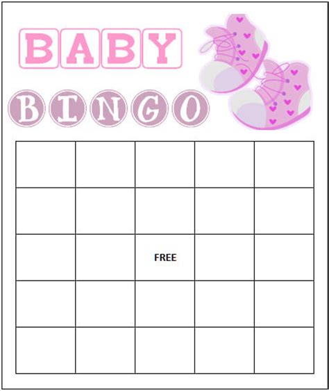free and printable baby shower bingo card baby shower ideas