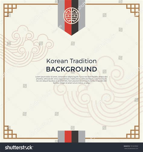 korean pattern background korean traditional pattern background banner stock vector
