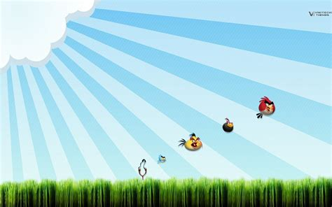 wallpaper with game birds angry birds full hd wallpaper and background image