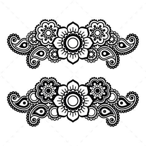 henna pattern vector mehndi indian henna tattoo pattern by redkoala graphicriver