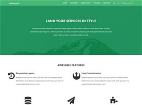 landing page free website template free css templates