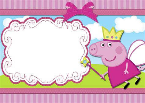 peppa pig printable birthday decorations moldura peppa freebies pinterest