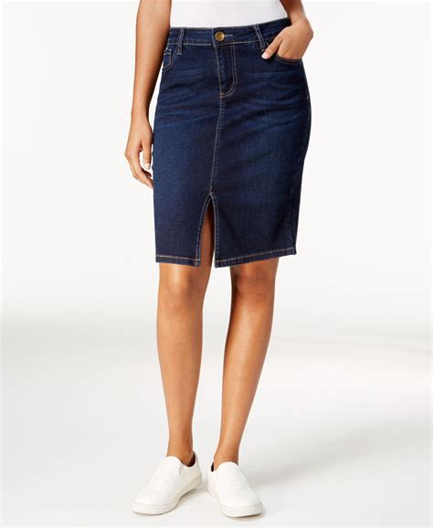kut from the kloth denim pencil skirt in blue lyst